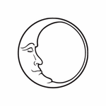 Face Resting in the moon Decal