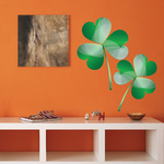 3 Leaf Clovers St Patrick's Day Printed Sticker