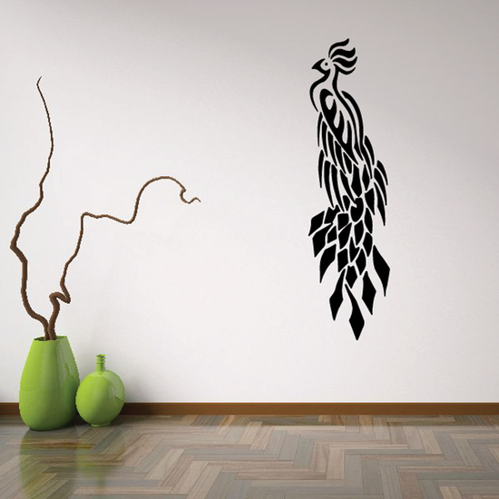 Feather Drape Peacock Decal