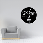 Tribal Moon Face Decal