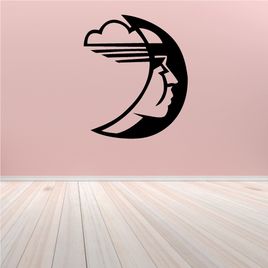 Blowing Moon Decal