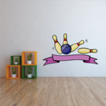 Bowling Wall Decal - Vinyl Sticker - Car Sticker - Die Cut Sticker - CDSCOLOR0030