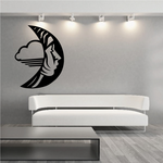 Woman Blowing in the Moon Decal