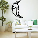 Woman Crescent Moon Decal