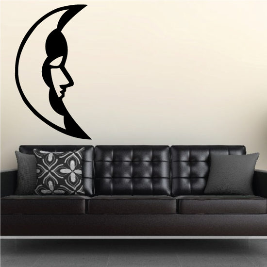 Crescent Moon Cloud Decal