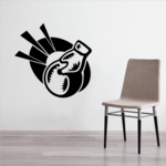 Action Bowling Toss Decal