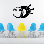 Action Bowling Ball Decal