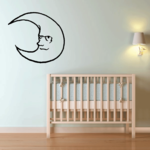 Crying Moon Decal
