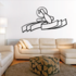 Staggered Bowling Pins and Ball Ribbon Decal