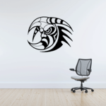 Tribal Moon with Horns Decal