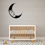 Resting Moon Decal