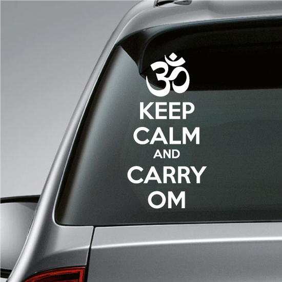 Keep Calm and Carry Om Decal