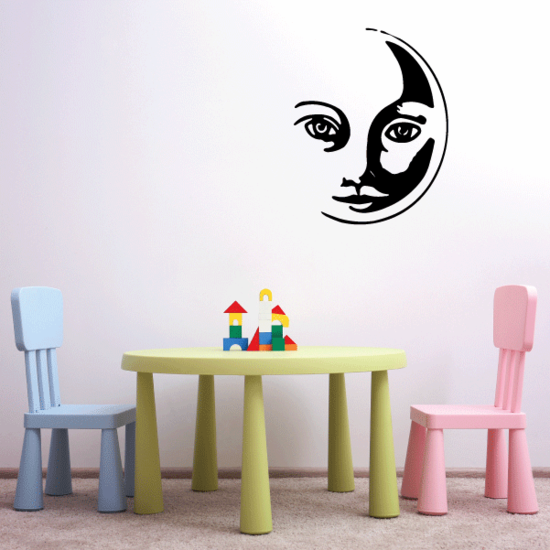 Cat Moon Face Decal