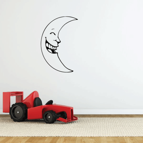 Laughing Moon Decal