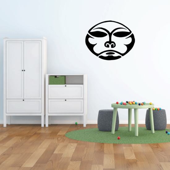 Dog Moon Face Decal