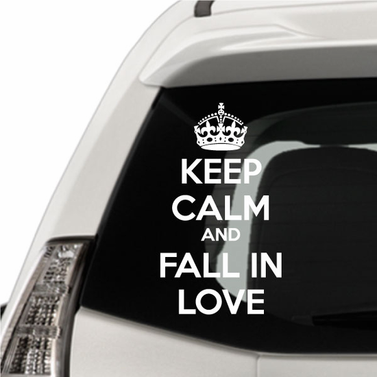 Keep Calm and Fall In Love Decal