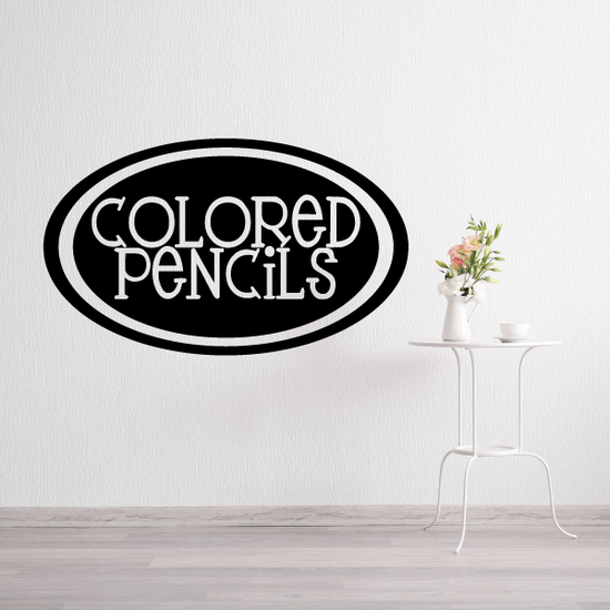 Colored pencils Oval Decal