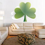 White and Green 3 Leaf Clovers St Patrick's Day Sticker