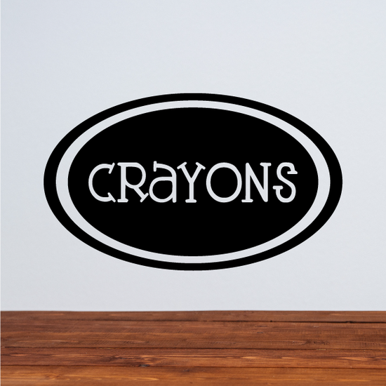 Crayons Oval Decal