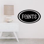 Paints Oval Decal