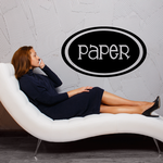 Paper Oval Decal