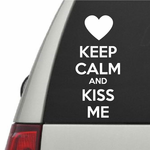 Keep Calm and Kiss Me Decal