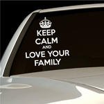 Keep Calm and Love Your Family Decal