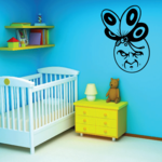 Moon with Butterfly Decal