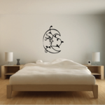Blowing moon with Vines Decal