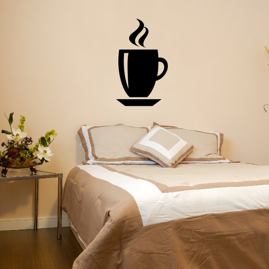 Hot Coffee Cup Wall Decal