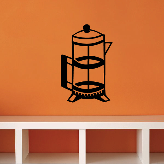 Clear Coffee Press Decal