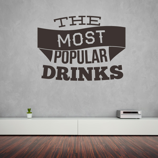 The Most Popular Drinks Decal