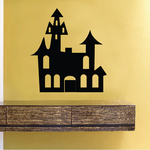 Simple Haunted House Decal