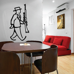 Man And Rifle Wall Decal - Vinyl Decal - Car Decal - Business Decal - MC35