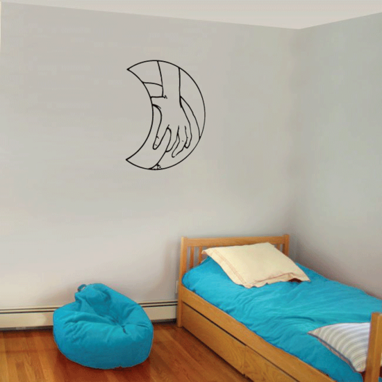 Hand on the Moon Decal
