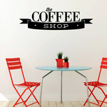The Coffee Shop Scroll Decal
