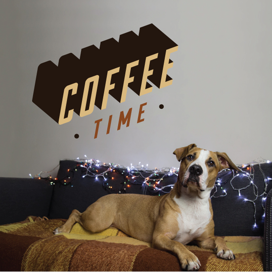 Coffee Time 3D Printed Decal