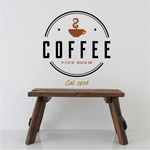 Coffee Fine Brew Printed Decal