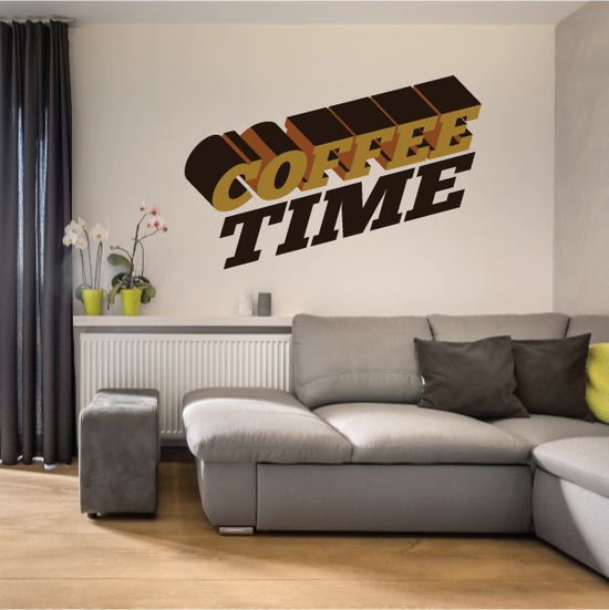 Coffee Time Printed Decal