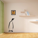 Looking Off Penguin Decal