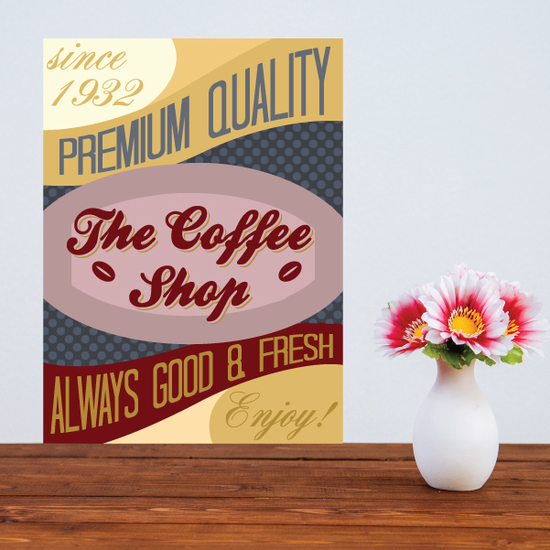 The Coffee Shop Premuim Quality Sticker