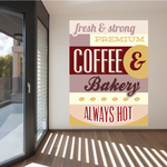 Fersh And Strong Premium Coffee and Bakery Sticker