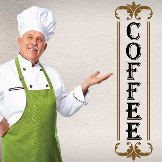 Coffee Sign Decal