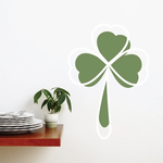 3 Leaf Clover St Patrick's Day Offset Printed Die Cut Decal
