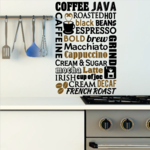 Coffee Word Collage Decal