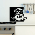 Sack Of Coffee Beans Decal