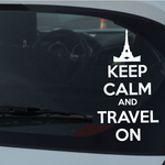 Keep Calm and Travel on Decal