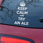 Keep Calm and Try an Ale Decal
