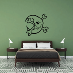 Moon Skull and Crossbones Decal