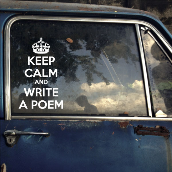 Keep Calm and Write a Poem Decal